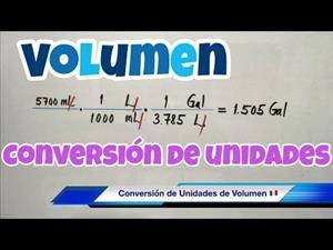 Conversión de Unidades de VOLUMEN (litros, galones, metros cúbicos)
