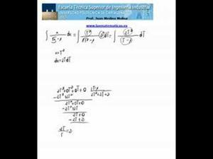 Cálculo de una integral irracional sencilla