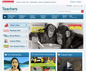 scholastic.com: portal educativo con material educativos para niños (en inglés)