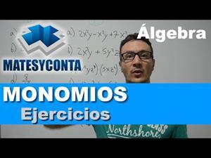 Ejercicios de monomios y operaciones con monomios