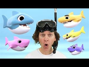 Count 1, 2, 3, 4, 5 sharks! Baby Shark Song