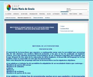 Lectoescritura para alumnos con discapacidad auditiva (C.E.I.P. Santa Mª de Gracia)