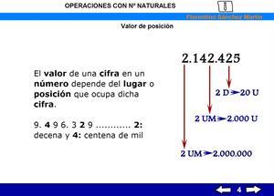 Números naturales. Operaciones