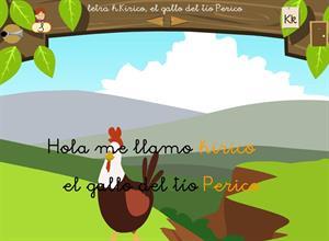 """Letra """"k"""". Kirico, el gallo del tío Perico. Proyecto Medusa"""