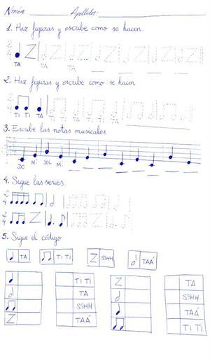Fichas para trabajar el Lenguaje Musical de Eduardo Lozano