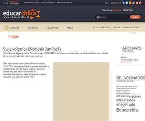 Siete volcanes (Nemesio Antúnez) (Educarchile)