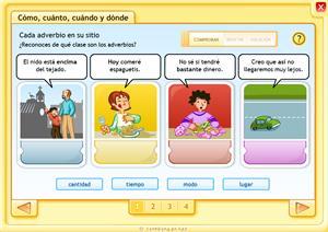 Adverbios: cómo, cuánto, cómo y dónde
