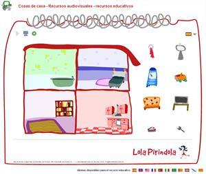 Cosas de casa. Juego on-line para Educación Infantil