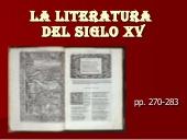 Literatura del Siglo XV