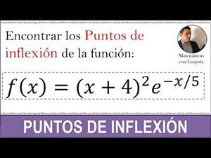 Puntos de inflexión | Uso de la segunda derivada