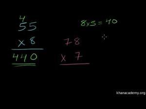 Multiplicación 4 Dos Cifras por Una Cifra (Khan Academy Español)