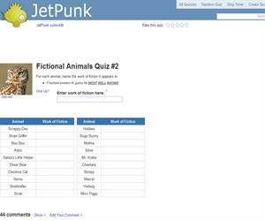 Fictional Animals Quiz 2