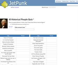40 Historical People Quiz