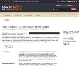 Grandes chilenos. Documental José Miguel Carrera (Educarchile)