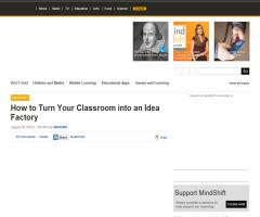 How to Turn Your Classroom into an Idea Factory | KQED
