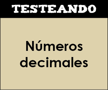 Números decimales. 2º ESO - Matemáticas (Testeando)