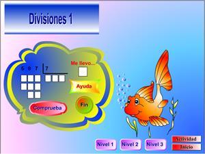Animales matemáticos. Practica las divisiones