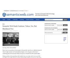 Semantic Web Deals Continue: Yahoo, Yes, But Blackbaud Too (Semantic Web)