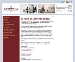 Invitación a participar en el III Foro de Lectores de ELE