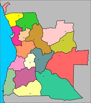 Mapa interactivo de Angola: provincias y capitales (luventicus.org)