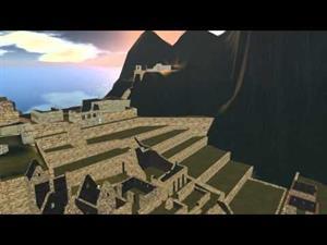 Recreación virtual del Machu Pichu