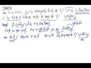 Teorema. Entre una sistema libre y un sistema generador hay una ba