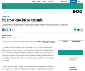 Educación: Me emociono, luego aprendo (El País)