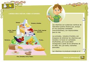 Laboratorio virtual sobre vitaminas.Biología y Geología para 3º de Secundaria