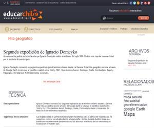 Segunda expedición de Ignacio Domeyko (Educarchile)