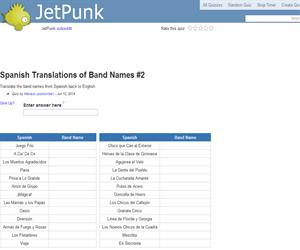 Spanish Translations of Band Names 2