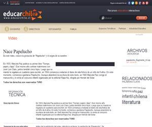 Nace Papelucho (Educarchile)