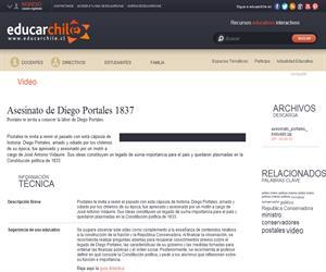 Asesinato de Diego Portales 1837 (Educarchile)