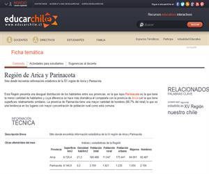 XV Región Estadísticas (Educarchile)