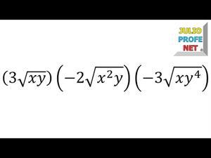 Multiplicación de radicales del mismo índice (JulioProfe)