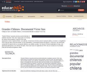 Grandes Chilenos. Documental Víctor Jara (Educarchile)