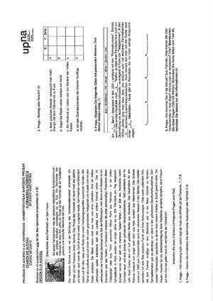 Examen de Selectividad: Alemán. Navarra. Convocatoria Julio 2013