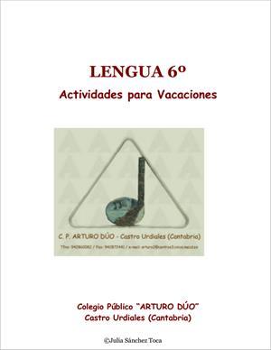 Actividades para vacaciones de Lengua (6º Primaria). CEIP Arturo Dúo