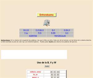 Reglas de uso de varias letras y de las palabras con mayúsculas y acentos (XVI)