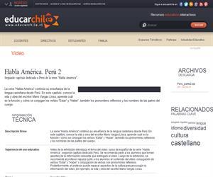 Habla América. Perú 2 (Educarchile)