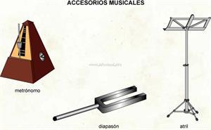 Accesorios musicales (Diccionario visual)