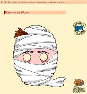 Máscaras de Halloween (dibujosparapintar.com)