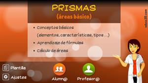 Contenido interactivo sobre los prismas (educa3d)