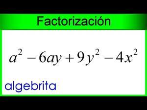 Factorizar combinación de trinomio cuadrado perfecto y diferencia de cuadrados.