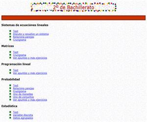 Ejercicios interactivos de Matemáticas Aplicadas a las Ciencias Sociales