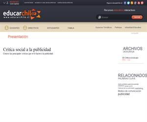 Crítica social a la publicidad (Educarchile)