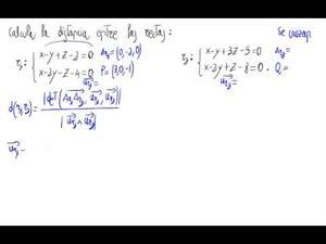 Distancia entre rectas que se cruzan en el espacio (Fórmula