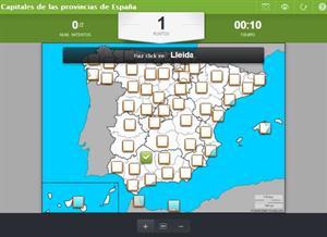 Mapa interactivo de las capitales de las provincias de España (Educaplay)