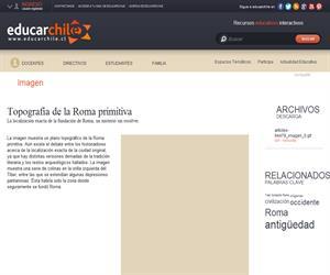 Topografía de la Roma primitiva (Educarchile)