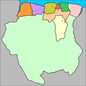 Mapa interactivo de Surinam (luventicus.org)
