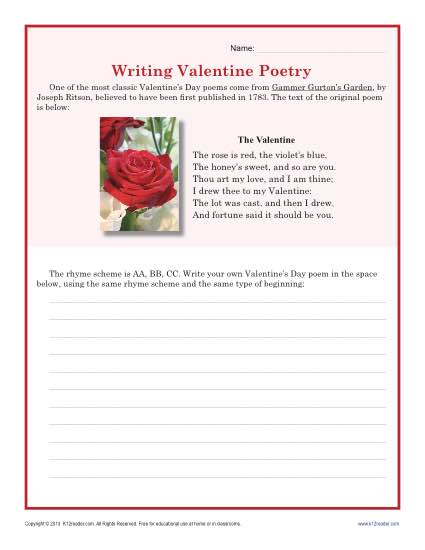 Writing Valentine's Day Poetry